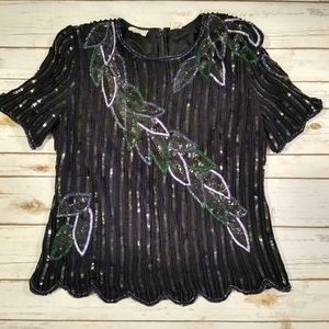 Stenay Vintage Beaded Blouse Size 20